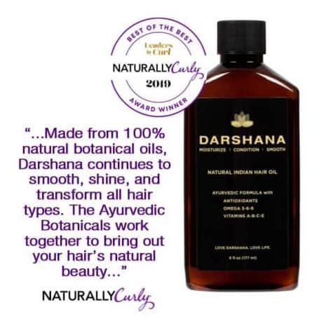 Naturally Curly quote about Darshana hair oil