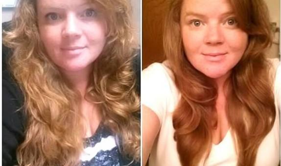 Sabrina Before and After Darshana Indian Hair Oil