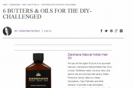 Darshana hair oil featured on Naturally Curly