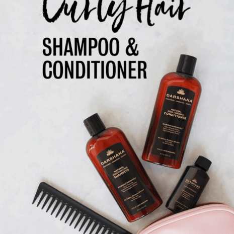 Darshana shampoo, conditioner, and hair oil by purse and comb.