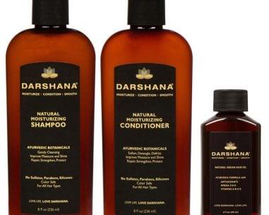 Darshana Shampoo, Conditioner, and 2 oz. hair oil bundle