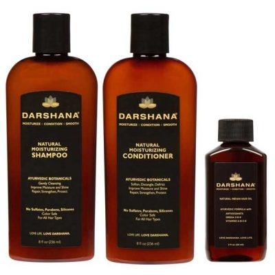 Darshana Natural Moisturizing Shampoo, Conditioner, and 2 oz. hair oil combo