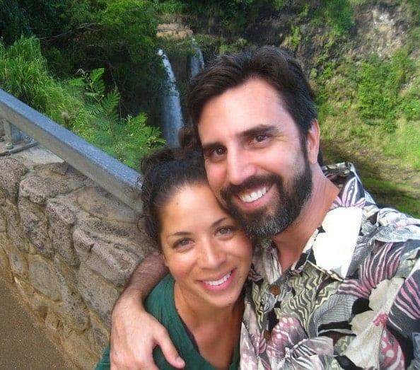 Darius & Shana by waterfall