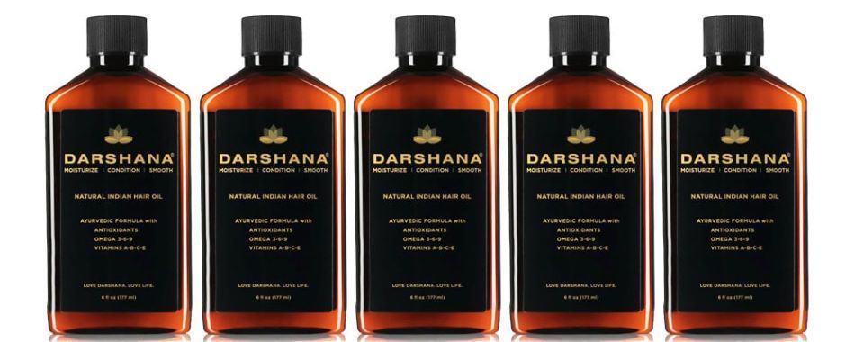 Darshana 6 oz hair oil bottles